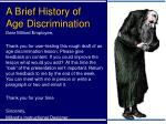 a brief history of age discrimination