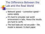 the difference between the lab and the real world17
