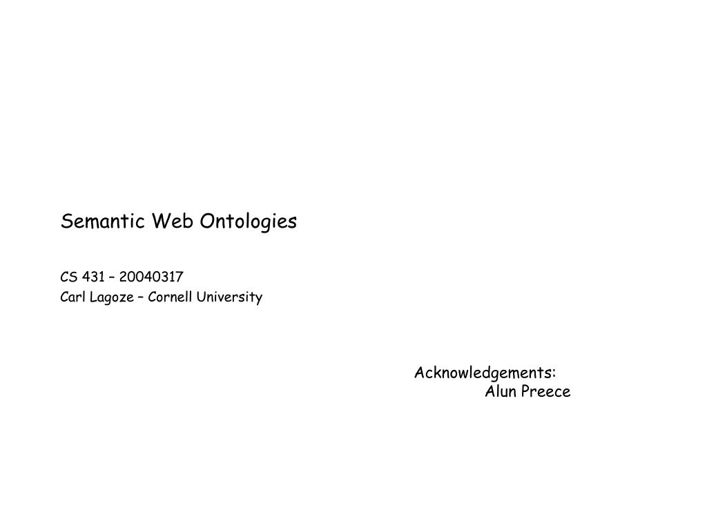 semantic web ontologies l.