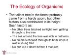 the ecology of organisms