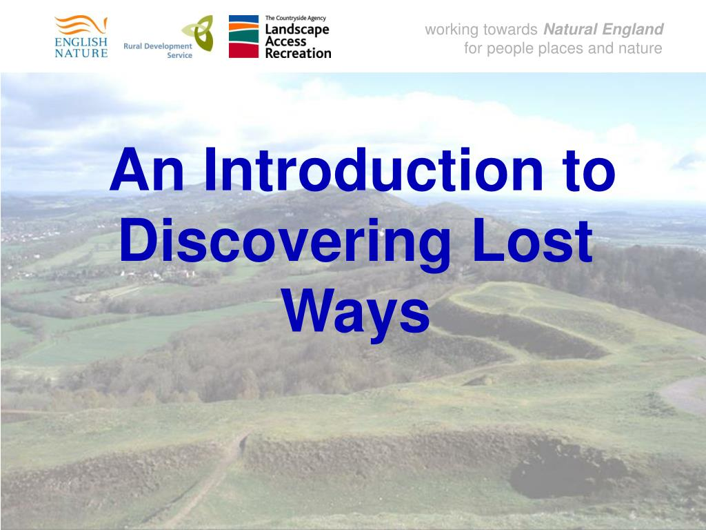 an introduction to discovering lost ways l.