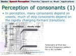 perception of consonants 1