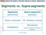 segments vs supra segments
