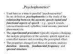 psychophonetics