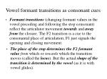 vowel formant transitions as consonant cues