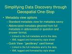 simplifying data discovery through geospatial one stop