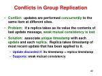 conflicts in group replication