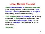 linear commit protocol