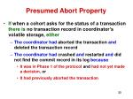 presumed abort property