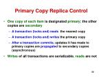 primary copy replica control