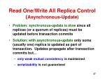 read one write all replica control asynchronous update