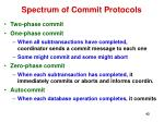 spectrum of commit protocols
