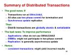 summary of distributed transactions
