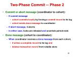two phase commit phase 2