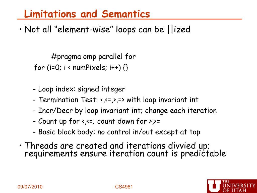 Limitations and Semantics
