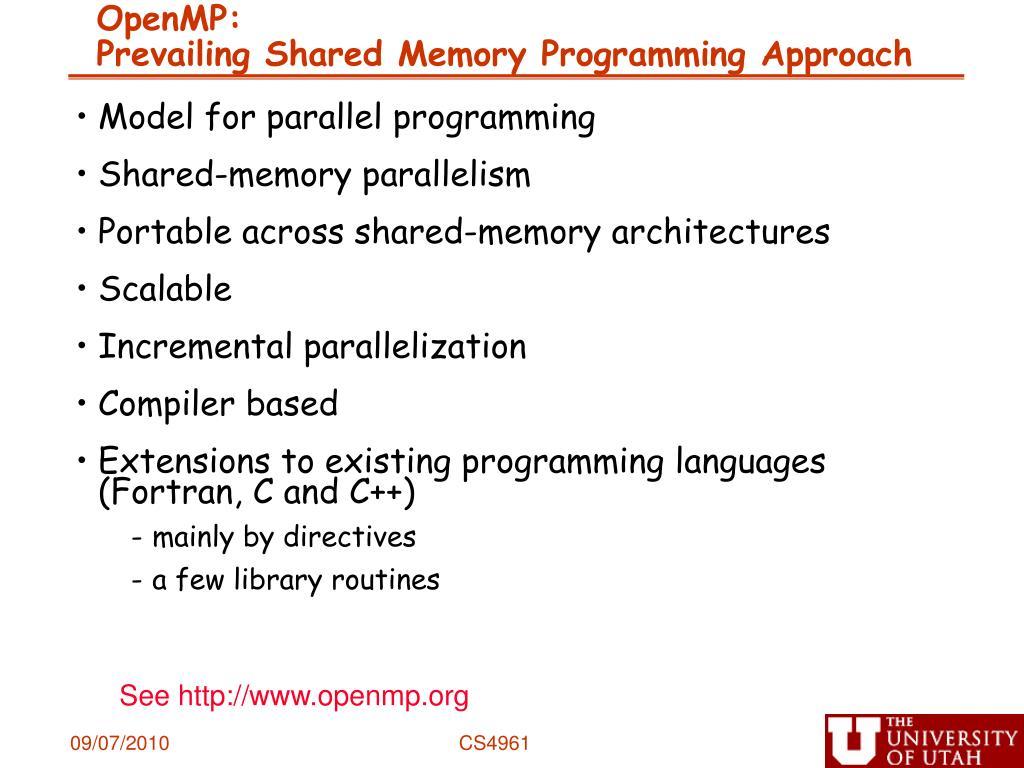 OpenMP: