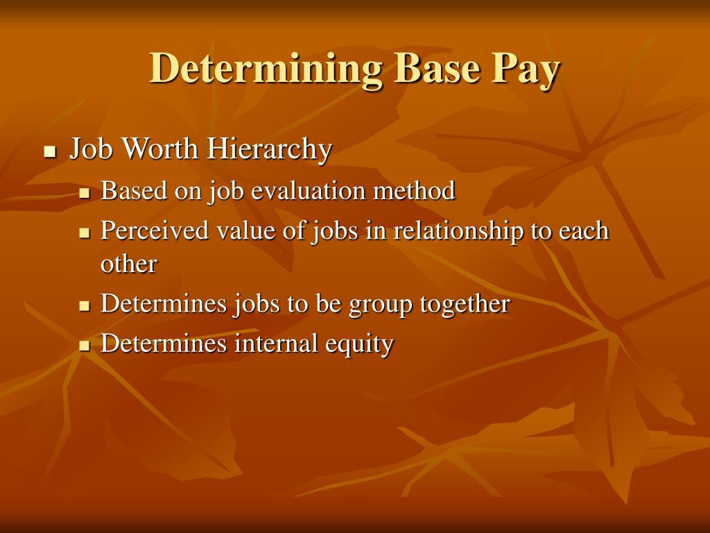 Determining Base Pay
