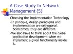 a case study in network management 5