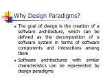 why design paradigms