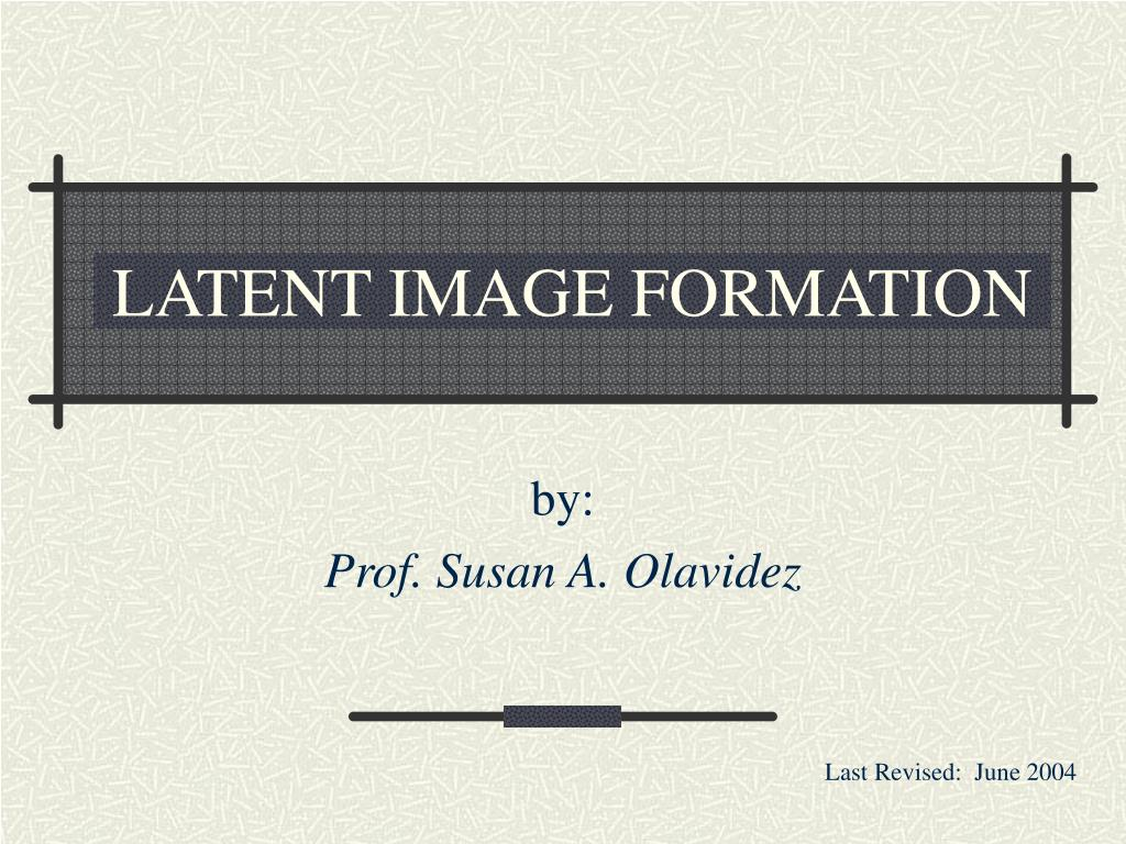 latent image formation l.