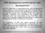 php development preferred for web development2