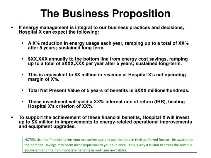The business proposition