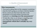 2 quality of assessment