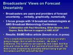 broadcasters views on forecast uncertainty