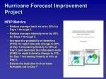 hurricane forecast improvement project