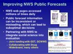 improving nws public forecasts