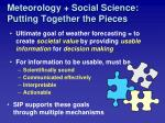 meteorology social science putting together the pieces