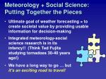meteorology social science putting together the pieces40