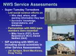 nws service assessments