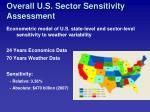 overall u s sector sensitivity assessment