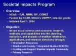 societal impacts program