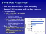 storm data assessment