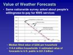 value of weather forecasts