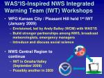 was is inspired nws integrated warning team iwt workshops