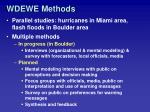 wdewe methods