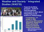 weather and society integrated studies was is