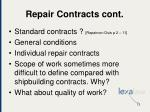 repair contracts cont
