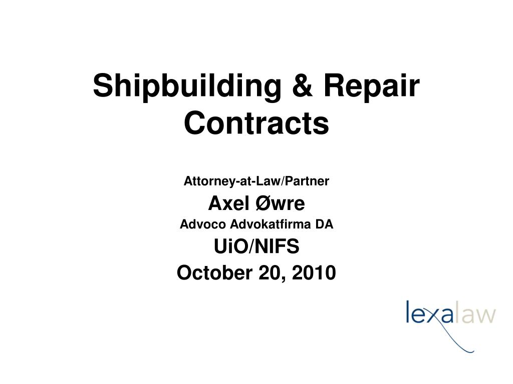shipbuilding repair contracts l.