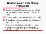 context aware data mining framework11