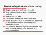real world applications of data mining
