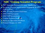 nhc visiting scientist program
