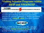 visiting scientist programs within hfip and nws ncep