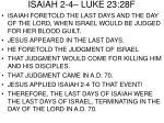 isaiah 2 4 luke 23 28f