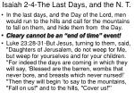 isaiah 2 4 the last days and the n t