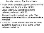 isaiah jesus paul and john