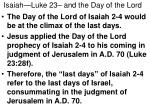 isaiah luke 23 and the day of the lord